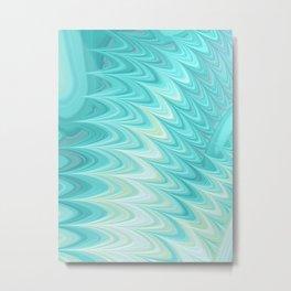 Teal Dreams Collection (8) - Fractal Art  Metal Print