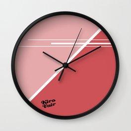 Red Triangles #buyart #kirovair #design #minimalism #society6 Wall Clock