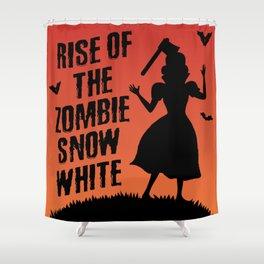 Halloween Zombie Snow White Humor Horror Shower Curtain