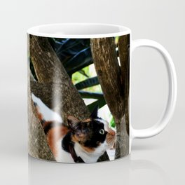 Hibiscus flower cat Coffee Mug