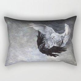 Yin Yang Owl and Raven Rectangular Pillow