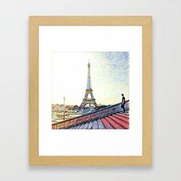 Walking In Paris Framed Art Print