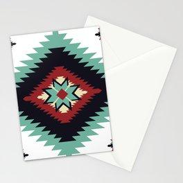 Southwest Santa Fe Geometric Tribal Indian Pattern Stationery Cards