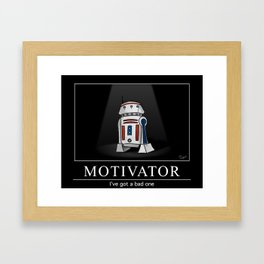 Bad Motivator Framed Art Print