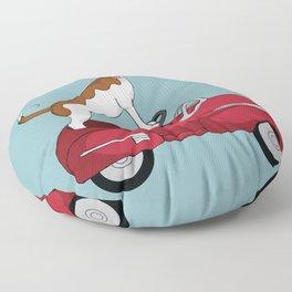 Driving Dog Floor Pillow