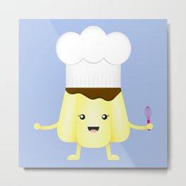 The Pudding Chef Metal Print