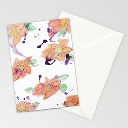 blazz studios: Watercolour Flowers Stationery Cards
