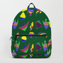 FISHES ON GREEN Backpack