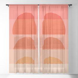 Abstraction_SUNRISE_Minimalism_ART_001 Sheer Curtain