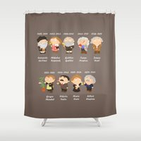 science Shower Curtains featuring science by Alapapaju