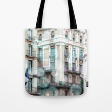 Barceona in pastel colors Tote Bag