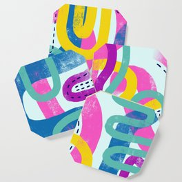 Fun bright abstract art Coaster