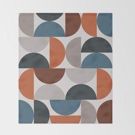 Mid Century Modern Geometric 25 Throw Blanket