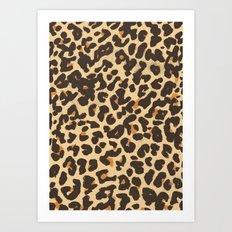 Just Leopard Art Print