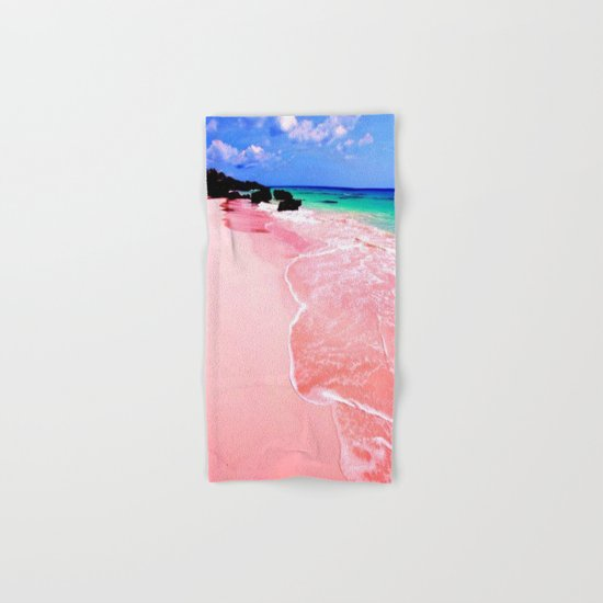 Elafonissi Chania Pink and Turquoise Sea Hand & Bath Towel