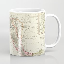 Vintage Map of Central America (1840) Coffee Mug