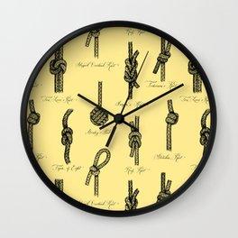 Nautical Knots (Yellow and Black) Wall Clock