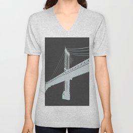 Manhattan Bridge Unisex V-Neck