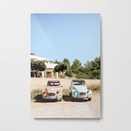 Old Cars, Ibiza, Spain - Wall Art Photo Print Metal Print