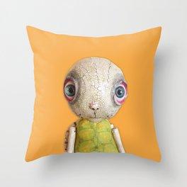 Sheldon The Turtle - Orange Throw Pillow