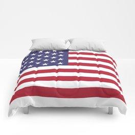 Flag of USA, 10:19 scale prints Comforters