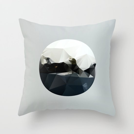 Island at Sea Throw Pillow