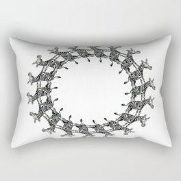 Zebras in the Loop Rectangular Pillow