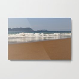Crescent Bay, looking out to Tasman Island Metal Print