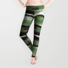 Stripes Camo Pattern Print Leggings
