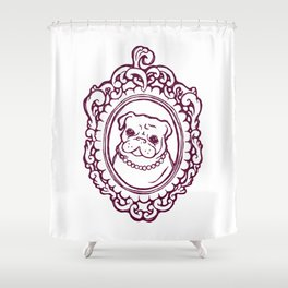 Pug Princess Shower Curtain