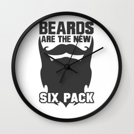 Beards Are The New Six Pack Wall Clock
