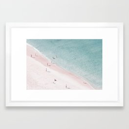 beach family love Framed Art Print