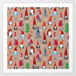 Gnomes everywhere Art Print