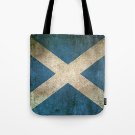 Old and Worn Distressed Vintage Flag of Scotland Tote Bag