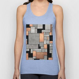Random Pattern - Concrete and Copper Unisex Tank Top