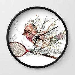The Wild Badminton Birdie Wall Clock