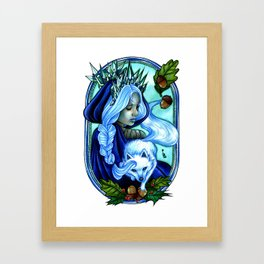 Winter Ice Queen Framed Art Print