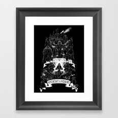 School of Witchcraft and Wizardry Framed Art Print