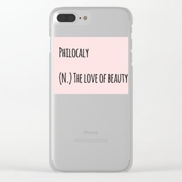 The Love Of Beauty Clear iPhone Case