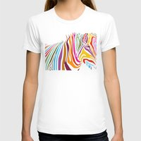 zebra T-shirts featuring Zebra by graphicinvasion