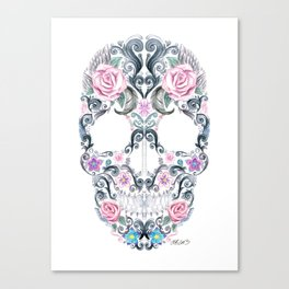 Colorskull Canvas Print