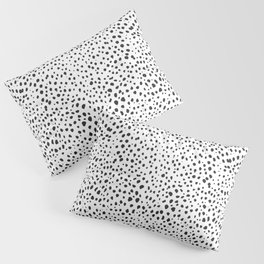 Dalmatian Spots - Black and White Polka Dots Pillow Sham