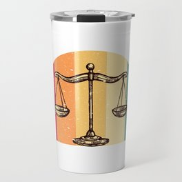 Scales Of Justice Lawyer Retro Gift Idea Travel Mug
