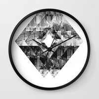 cityscape Wall Clocks featuring Cityscape   by To Be Design