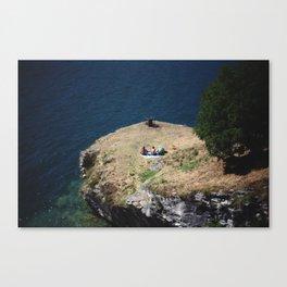 August Sun. Garda. Canvas Print