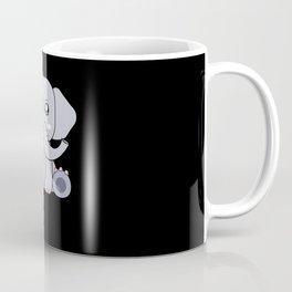 Kawaii Cartoon Kids Elephant Animal Motif Coffee Mug