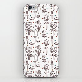 Pattern in Nordic Floral Style #4 iPhone Skin