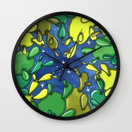 cactuses and night Wall Clock