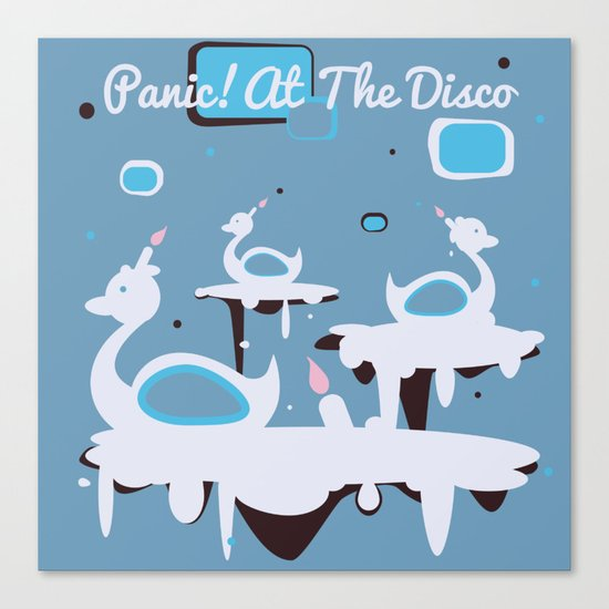 Panic! at the Disco - Candle Swans Canvas Print