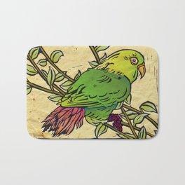 Parrot Linocut Bath Mat